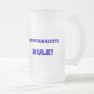 Cryptanalysts Rule! Frosted Glass Beer Mug