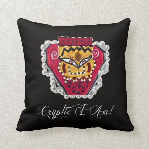 Cryptic I Am! Pillows