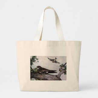 Cryptic Nighthawk Large Tote Bag