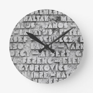 Cryptic Stone Font Round Wallclock