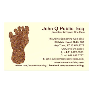 Cryptid Bigfoot Sasquatch Yeti Contact Cards Double-Sided Standard Business Cards (Pack Of 100)