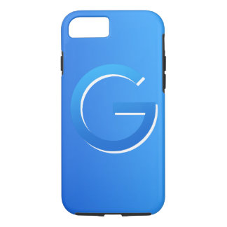 Crypto Gulden symbol blue-on-blue iPhone case