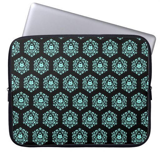 Cryptocurrency MonaCoin MonaDamask Pattern Blue Laptop Sleeve