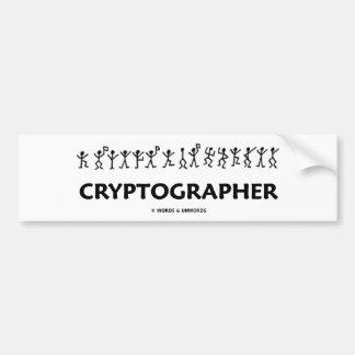 Cryptographer (Dancing Men Stick Figures) Car Bumper Sticker