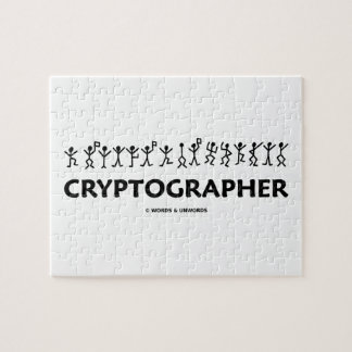 Cryptographer (Dancing Men Stick Figures) Jigsaw Puzzle