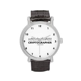 Cryptographer (Dancing Men Stick Figures) Wrist Watches