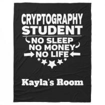 Cryptography College Major No Sleep No Money Fleece Blanket