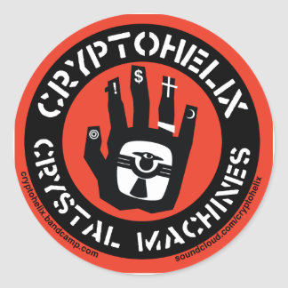 Cryptohelix - Crystal Machines - stickers