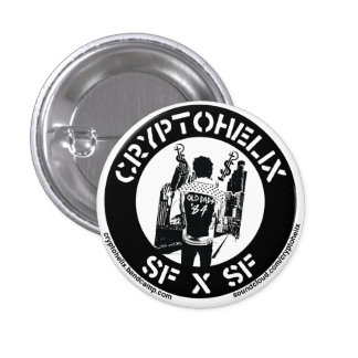 Cryptohelix - SFxSF 1 Inch Round Button