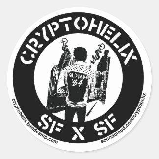 Cryptohelix - SFxSF Round Sticker