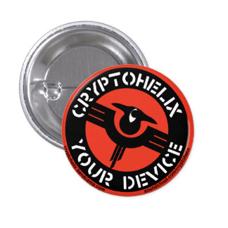 Cryptohelix - Your Device (RED) 1 Inch Round Button