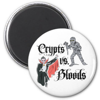 Crypts Vs. Bloods 2 Inch Round Magnet