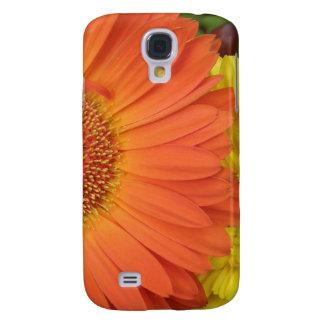 Crysanthemum anaranjado y amarillo funda para galaxy s4