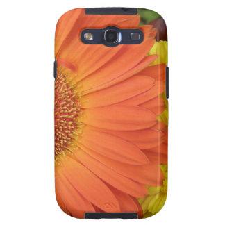 Crysanthemum anaranjado y amarillo galaxy SIII protector