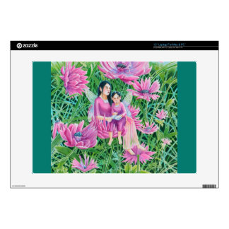"Crysanthemum Fairy Mum and Child Decals For 15"" Laptops"