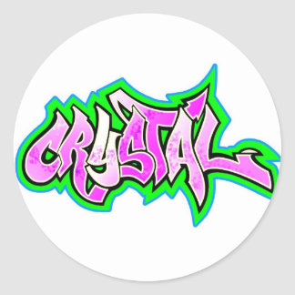 crystal 2 classic round sticker