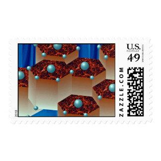 Crystal aggregate Orbit Postage Stamp