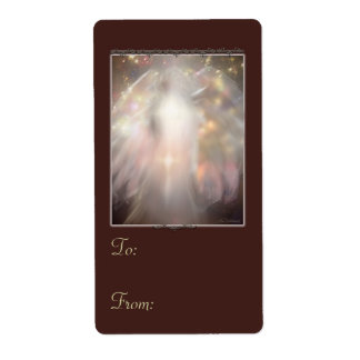 Crystal Angel in red gift tags