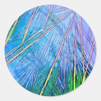 Crystal Art:  Blue Crystal Classic Round Sticker