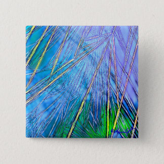 Crystal Art:  Blue Crystal Pinback Button