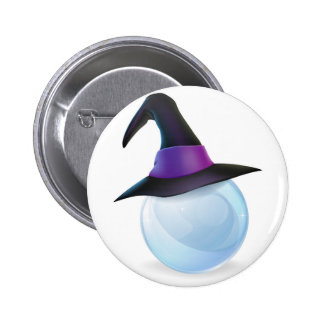 Crystal Ball and Witches Hat Pins