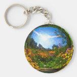 Crystal Ball Basic Round Button Keychain
