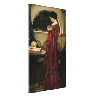 Crystal Ball by Waterhouse, Vintage Victorian Art Canvas Print