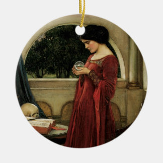 Crystal Ball by Waterhouse, Vintage Victorian Art Ceramic Ornament
