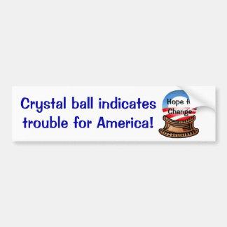 Crystal Ball Car Bumper Sticker