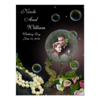 Crystal Ball Fantasy portrait Poster