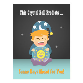 Crystal Ball Fortune Teller Cheer Up Friend Postcard