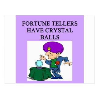 crystal ball fortune teller joke postcard