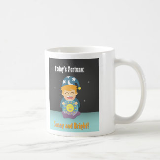 Crystal Ball Fortune Teller Think Positive Coffee Mug