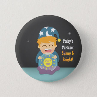 Crystal Ball Fortune Teller Think Positive Pinback Button