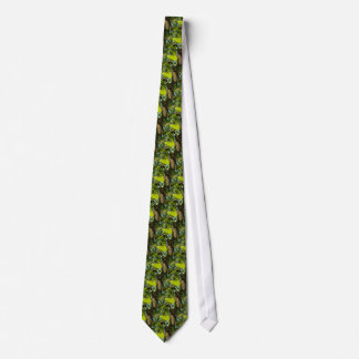 Crystal Ball in Gingko tree Neck Tie