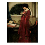 Crystal Ball, JW Waterhouse, Vintage Victorian Art Post Cards