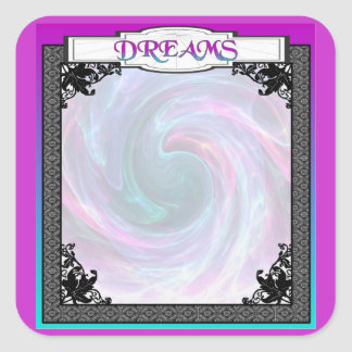 Crystal Ball!  Psychic Impressions and Dreams Square Sticker