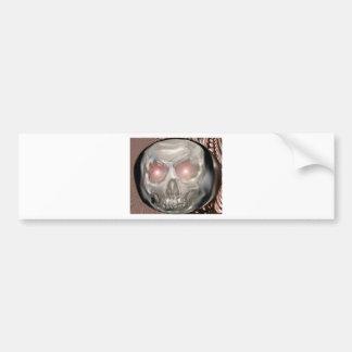 Crystal ball skull bumper sticker