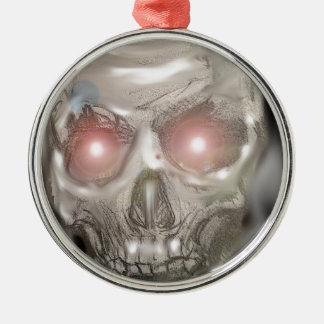 Crystal ball skull ornament
