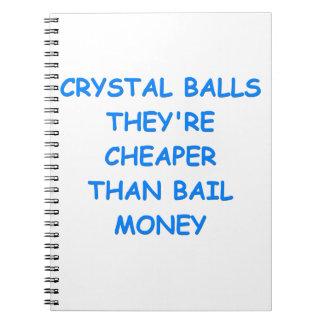 crystal ball spiral notebook