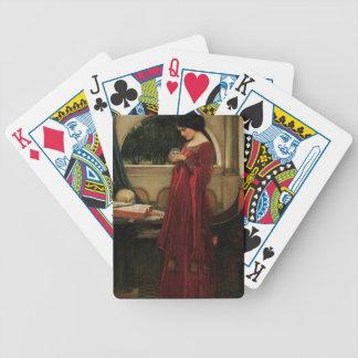 Crystal Ball Waterhouse Painting Magic Fantasy Bicycle Playing Cards