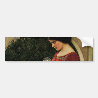Crystal Ball Waterhouse Painting Magic Fantasy Bumper Sticker