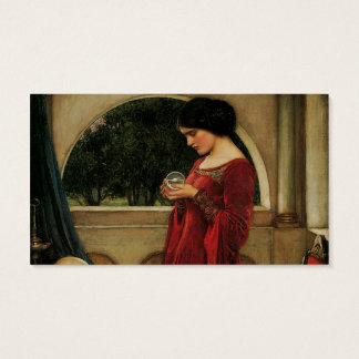 Crystal Ball Waterhouse Painting Magic Fantasy Business Card