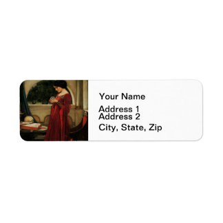 Crystal Ball Waterhouse Painting Magic Fantasy Label