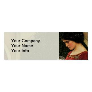 Crystal Ball Waterhouse Painting Magic Fantasy Mini Business Card