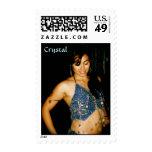 Crystal, Bellydance Blue Postage Stamp