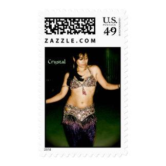 Crystal, Bellydancer Postage Stamp