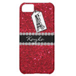 Crystal BLING  RED IPHONE  5 Case Paris Theme Cover For iPhone 5C