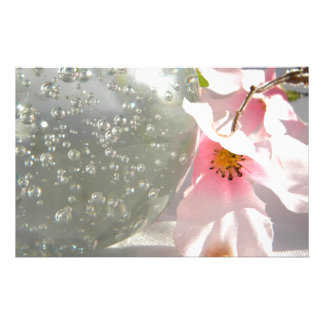 Crystal Blossoms Stationery