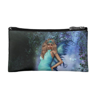 Crystal Blue Cosmetic Bag